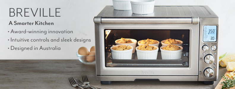 Breville a Smarter Kitchen. Award-winning innovation. Intuitive controls and sleek designs. Designed in Australia.