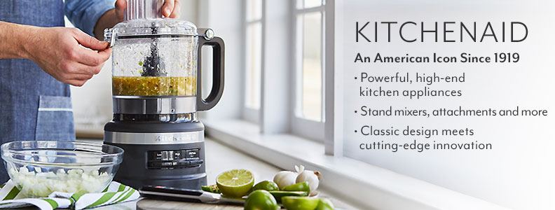 KitchenAid an American Icon since 1919. Powerful, high end kitchen appliances. Stand mixers, attachments and more. Classic design meets cutting edge innovation.