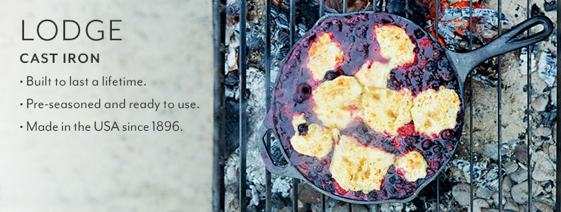 Lodge Cast Iron Built to last a lifetime. Pre-seasoned and ready to use. Made in the USA since 1896.
