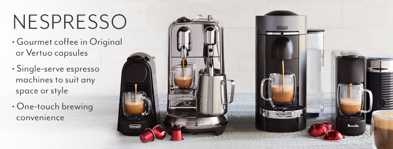Nespresso Espresso Machines To Fit Any E Or Style Gourmet Coffee In Vertuoline