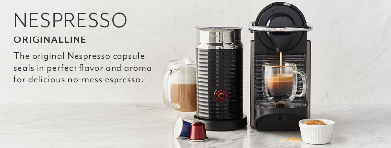 Nespresso OriginalLine. The original Nespresso capsule seals in perfect flavor and aroma for delicious no-mess espresso.