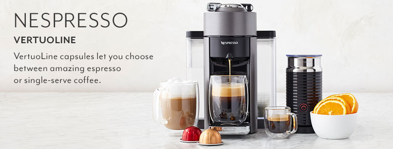 Nespresso VertuoLine. VertuoLine capsules let you choose between amazing espresso or single-serve coffee.