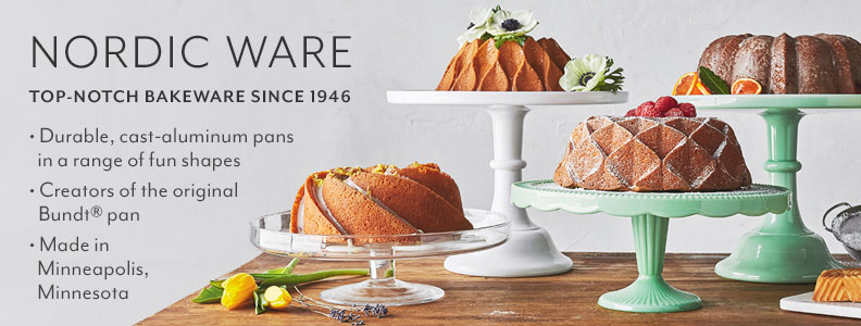 Nordic Ware top notch bakeware since 1946. Durable, cast aluminum pans in a range of fun shapes. Creators of the original Bundt pan. Made in Minneapolis, Minnesota.