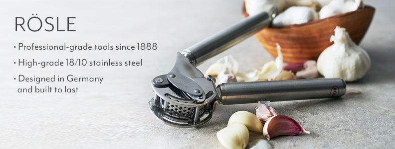Rosle, professional grade tools since 1888. High grade 18/10 stainless steel. Designed in Germany and built to last.