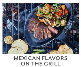 Mexican flavors on the grill.