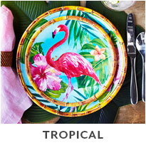 Tropical dinnerware.