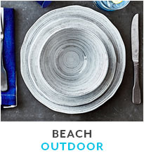 Beach Outdoor dinnerware.