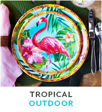 Tropical outdoor dinnerware.