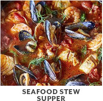 Cooking Class: Seafood Stew Supper.