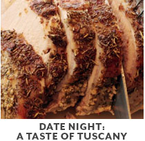 Cooking Class: Date Night: A Tastse of Tuscany.