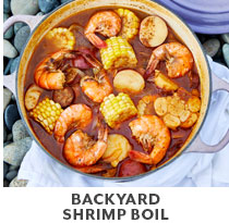 Cooking Class: backyard shrimp boil.
