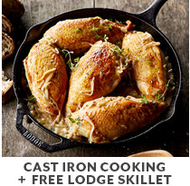 Cooking Class: Cast iron cooking plus free Lodge skillet.