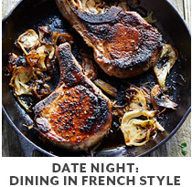 Cooking Class: Date Night: Dining in French Style.