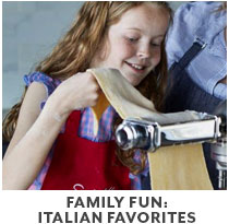 Cooking Class: Family Fun Italian Favorites.