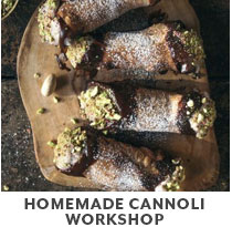 Cooking Class: Homemade Cannoli Workshop.