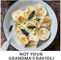 Cooking Class: Not your Grandma's Ravioli.