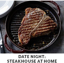 Cooking Class: Date Night: Steakhouse at Home.