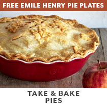 Cooking Class: Take & Bake Pies + 2 free Emile Henry pie plates.