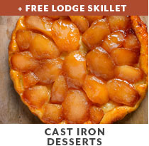 Cooking Class: Cast Iron Desserts + free Lodge skillet.