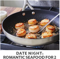 Cooking Class: Date Night: Romantic Seafood for two.