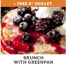 Free 8 inch skillet. Brunch with GreenPan