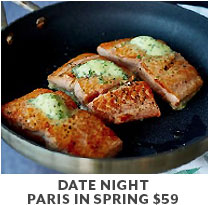 Cooking Class: Date Night Paris in Spring $59.