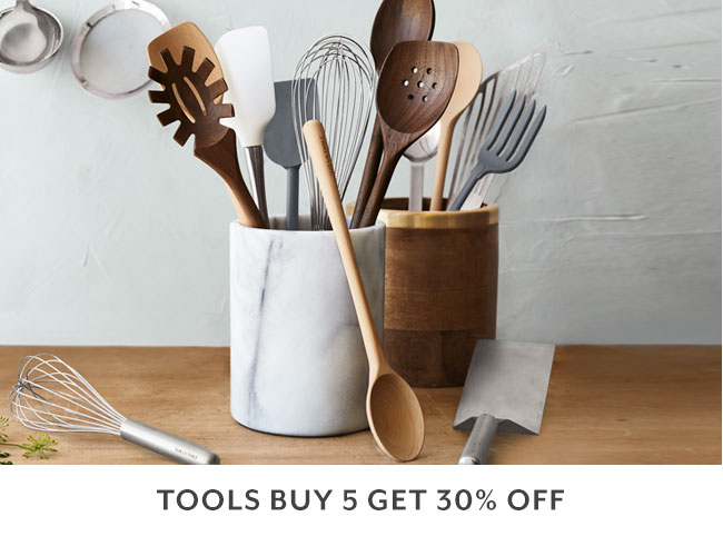 Tools buy 5, get 30% off