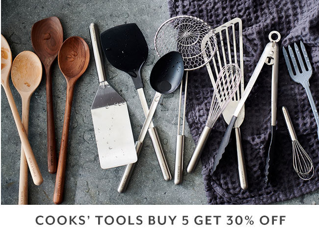 Cooks' tools buy 5, get 30% off