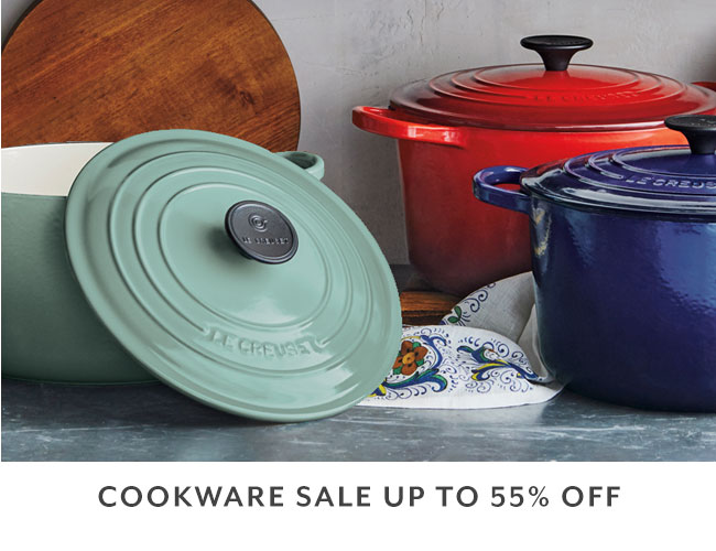 Cookware sale up to 55% off