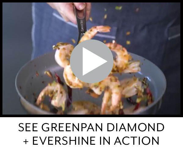 See GreenPan Diamond plus Evershine in action.