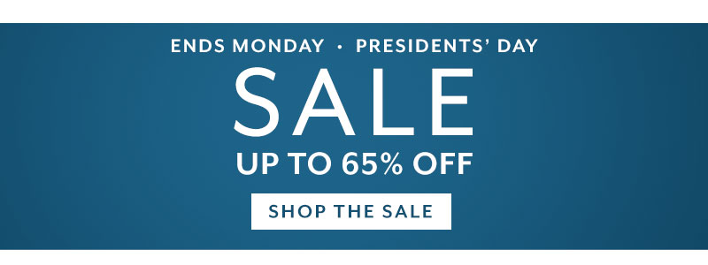 President's Day Sale up to 65% off. Shop now.
