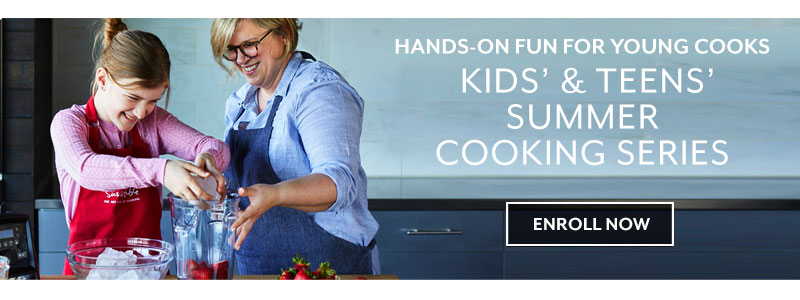 Hands on fun for young cooks, Kids and Teens summer cooking series. Enroll now.