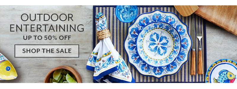 Outdoor Entertaining up to 50% off. Shop the sale.