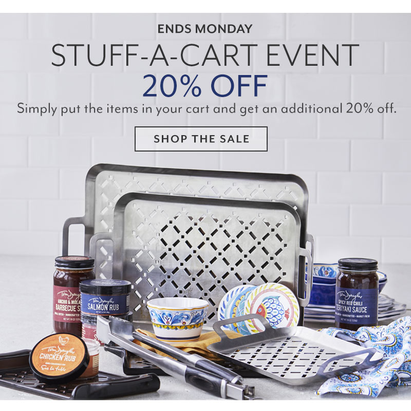 Ends Monday Stuff-a-Cart Event 20% off.
