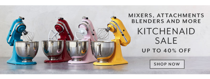 Mixers, attachments, blenders and more. KitchenAid sale up to 40% off. Shop now.