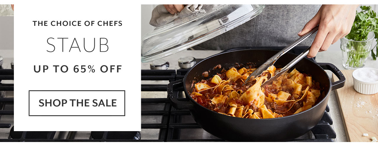Staub up to 65% off, shop the sale.