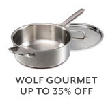 Wolf Gourmet up to 35% off.