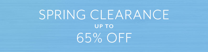 Spring Clearance up to 65% off.