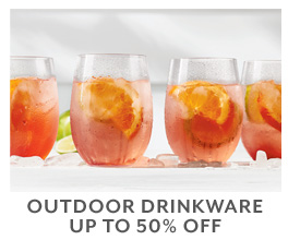 Outdoor Drinkware up to 50% off.
