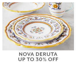 Nova Deruta up to 30% off.