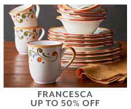 Francesca up to 50% off.