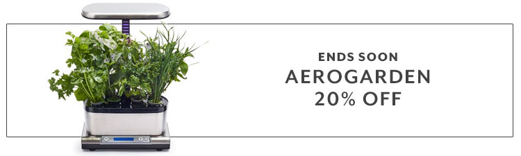 Ends soon Aerogarden 20% off