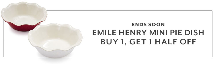 Ends soon Emile Henry mini pie dish buy 