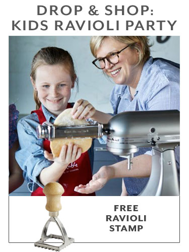 DROP & SHOP KIDS RAVIOLI PARTY, free ravioli stamp