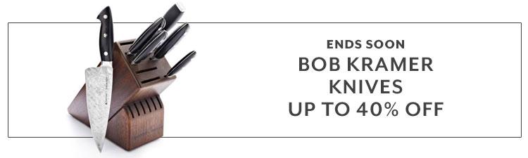 Ends Soon, Bob Kramer knives. up to 55% off.