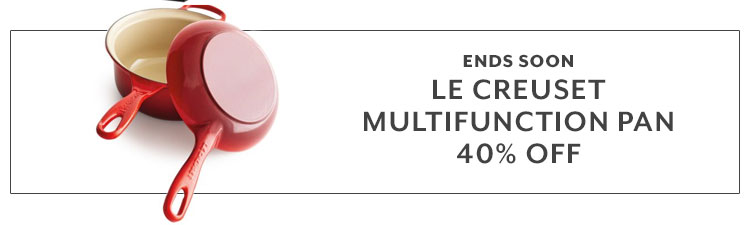 Ends soon. Le Creuset multifunction pan. 40% off.