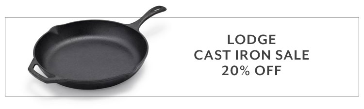 Lodge cast iron sale 20% off