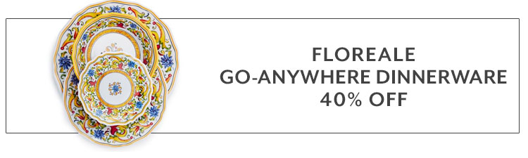 Floreale go anywhere dinnerware 40% off