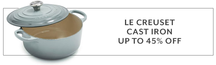 Le Creuset cast iron up to 45% off