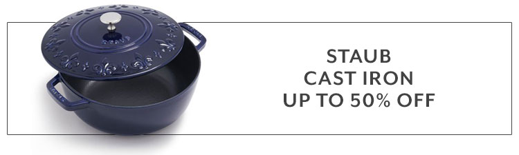 Staub cast iron up to 50% off